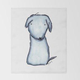 Puppy Blue Throw Blanket