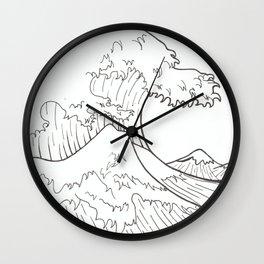 The wave of Kanagawa Wall Clock