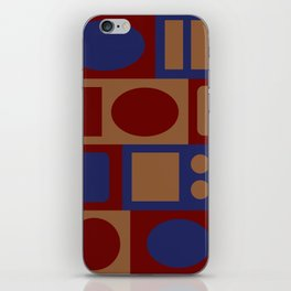 circles and rectangles iPhone Skin