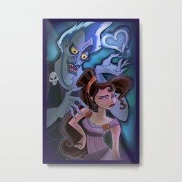 Meg and Hades Metal Print