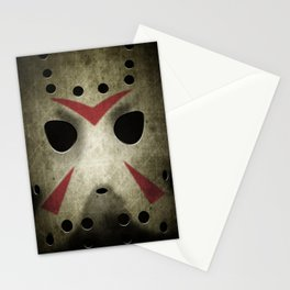 Slasher Hockey Mask Stationery Cards