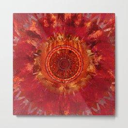 Mandala Grunge Metal Print