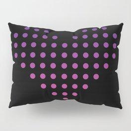 Gradient Heart of Dots Pillow Sham