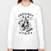 boxing Long Sleeve T-shirts featuring Boxing by T-SIR | Oscar Postigo