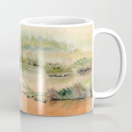 Egret On The Marsh Coffee Mug