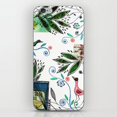 Through the jungle web iPhone Skin