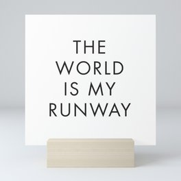 The World is my Runaway, Inspirational Quotes, Affiche Scandinave, Wall Art, Contemporary Print Mini Art Print