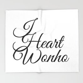 I Heart Wonho - Monsta X Throw Blanket