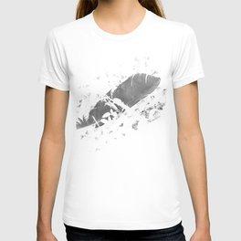 Black plume T-shirt
