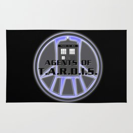 Agents of TARDIS Doctor Who Agents of Shield Mash Up Rug
