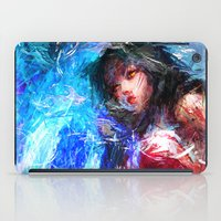 league of legends iPad Cases featuring League of Legends - Ahri by Raditya Giga