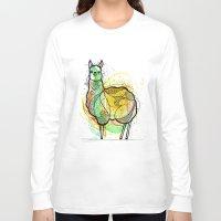 llama Long Sleeve T-shirts featuring Llama by Nemki