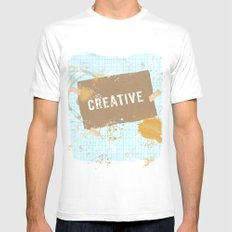 creative Mens Fitted Tee White MEDIUM