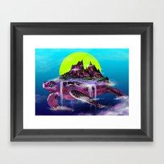 Turtle Paradise Framed Art Print