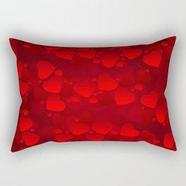 red heart Rectangular Pillow