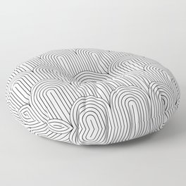 Art Deco Arch Pattern IX Floor Pillow