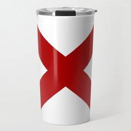Alabama Sate Flag Travel Mug