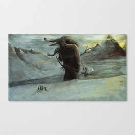 Kveikur - The Ice Giant Walks Canvas Print