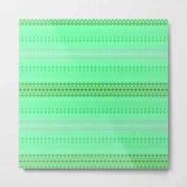 Mint Green Abstract XIV Metal Print