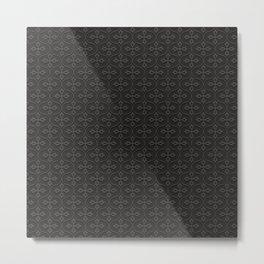 Dark Trellis Metal Print