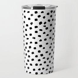 Dalmatian Dots Black White Spots Travel Mug