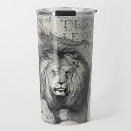 Vintage Lion etching Travel Mug