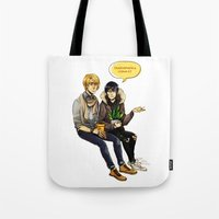 durarara Tote Bags featuring PLANTS WITH PANTS by rhymewithrachel