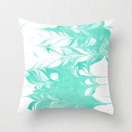 Ryuki - spilled ink marbled watercolor painting minimal modern art decor marbling marble Throw Pillow