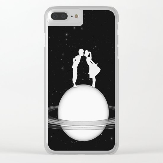 Love on Saturn Clear iPhone Case