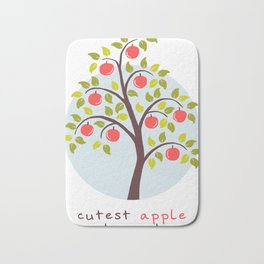 Adorable kids - Cutest Apple In The Orchard Bath Mat