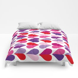 Love and Kisses in Ultra Violet Comforters