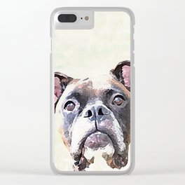 Brindle Boxer Dog Clear iPhone Case