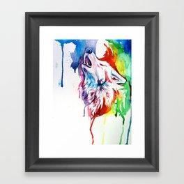 Rainbow Wolf Framed Art Print