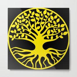 Yellow Tree Of Life Metal Print