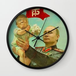 Trump Putin Wall Clock