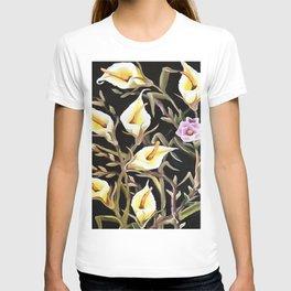 Arum Lily Artistic Floral Design T-shirt