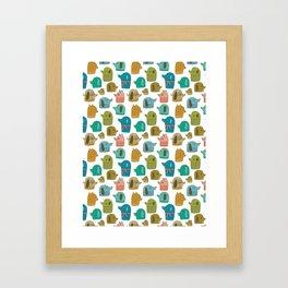 Pattern Project / Dogs Framed Art Print