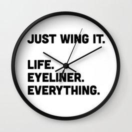 Just wing it Wall Clock