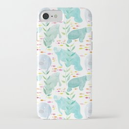 Lazy Manatees iPhone Case