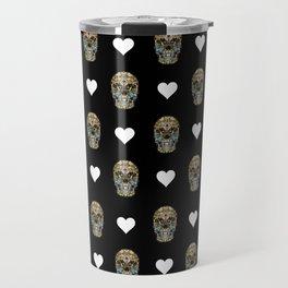 Say It with Skull and Hearts Travel Mug