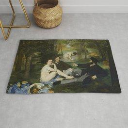 """Édouard Manet """"Le déjeuner sur l'herbe (Luncheon on the Grass)"""" Rug"""