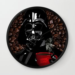 The Dark Side of Coffee Wall Clock