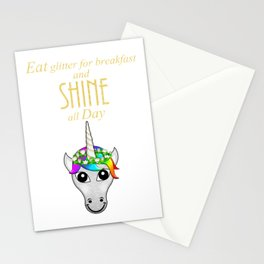 Eat Glitter for breakfast and SHINE all Day Stationery Cards