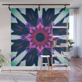 Dark Violet Mandala Wall Mural