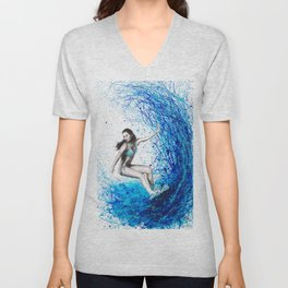 Thoughts and Waves Unisex V-Neck