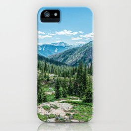Colorado Wilderness // Why live anywhere else? Amazing Peaceful Scenery with Evergreen Dusted Hills iPhone Case