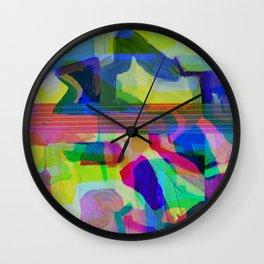 Blue Glitchy Howl Wall Clock