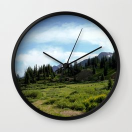 Turnoff to 12,840-foot Black Bear Pass - A Frightening and Dangerous Road Wall Clock