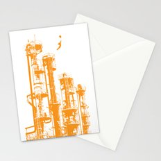 Factory Jump (orange) Stationery Cards