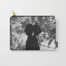 Woman in a Black Dress Carry-All Pouch